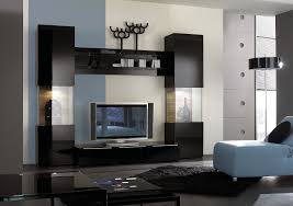 furniture decorating the living room media console table