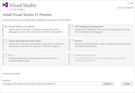 visual studio u201c15 u201d preview now available the visual studio blog