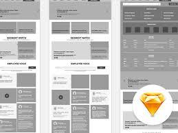 intranet website wireframe sketch freebie download free resource