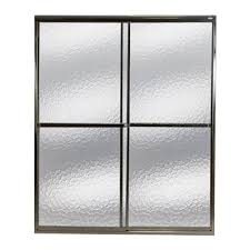 Mirolin Shower Doors Mirolin Framed Bypass 46 In To 47 In W X 71 25 In H Silver Sliding