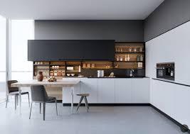luxury modern kitchen interior black and white