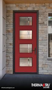 Fiberglass Exterior Doors With Glass Therma Tru Door 8 Pulse Fiberglass With Axis Glass Front Doors