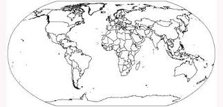 world map image outline