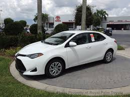2017 used toyota corolla le cvt automatic at royal palm toyota