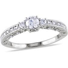 2 carat white gold engagement ring 1 2 carat t w engagement ring in 10kt white gold