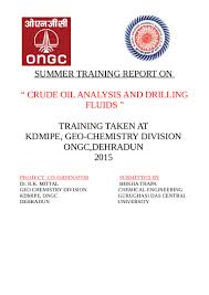 analysis of crude oil and drilling fluids