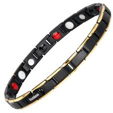 titanium steel bracelet images Hottime 4 in 1 magnetic new fashion lovers 39 jewelry black gold jpg
