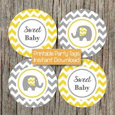 gender neutral baby shower decorations yellow grey baby shower decorations by bumpandbeyonddesigns on zibbet