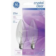 ceiling fan light bulbs ge b type ceiling fan light bulb walmart com