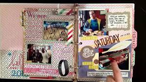 scrapbook binder journal flip through january 1st to february