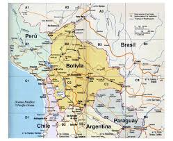 Maps South America by South America With Highlighted Bolivia Map Vector Illustration