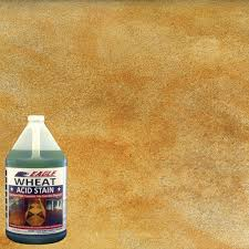Concrete Staining Pictures by Eagle 1 Gal Wheat Concrete Acid Stain Edadw The Home Depot