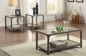 metal frame table and chairs homelegance rumi coffee table set light burnished wood with metal