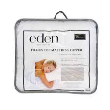 eden pillow top mattress overlay cluster puff commercial supplies