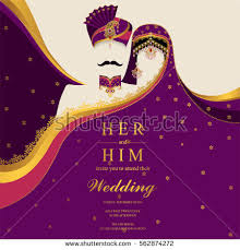 indian wedding invitation cards indian wedding invitation card templates patterned stock vector