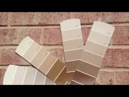 Pink Brick Wall Exterior Paint Sample Colors Pink Brick Youtube