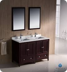 Double Bathroom Sink Cabinets Catchy 48 In Double Vanity And Vigo 48 Inch Maxine Double Bathroom