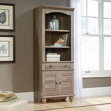 Sauder Harbor View Corner Computer Desk In Antiqued Paint Amazon Com Sauder Harbor View Library Antiqued White Kitchen
