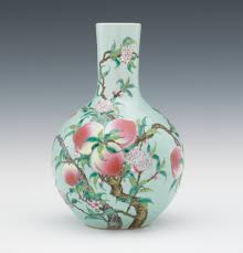 Chinese Antique Vases Markings Chinese Porcelain Peach Vase With Yongzheng Marks 10 20 11 Sold
