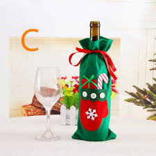 wine bottle bows new 5pcs christmas decorations santa claus wine bottle bow tie