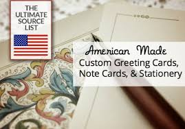 american made custom greeting cards note cards stationery usa