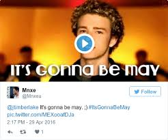 Justin Timberlake May Meme - justin timberlake just excellently poked fun at the it s gonna be