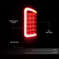 fiber optic tail lights dodge ram 2500 2003 2006 black led tail lights red tube