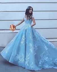 light blue formal dresses light blue ball gowns prom dresses 2018 lace appliques evening gowns