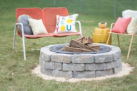 Fire Pit Diy Amp Ideas Diy How To Make A Diy Built In Flagstone Fire Pit Dream Green Diy