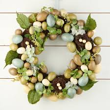 egg wreath is in the air artificial egg wreath wreaths floral