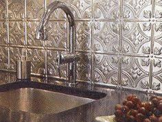 Tin Backsplashes For Kitchens All About Tin Ceilings Tin Ceilings Ceiling Panels And Ceilings