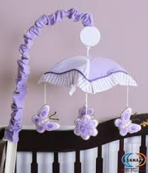 Lavender Butterfly Crib Bedding Geenny Musical Mobile For Boutique Lavender Butterfly