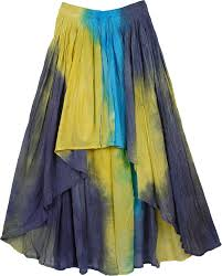 cotton skirts hi low hues tie dye cotton skirt clothing tie dye high low