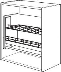 etagere meuble cuisine étagère 600 mm escamotable meuble cuisine fr