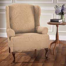 Wing Chair Slipcovers Buy Stretch Wing Chair Slipcover From Bed Bath U0026 Beyond