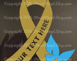 copd ribbon metallic gold awareness ribbon butterfly window decal