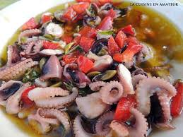 cuisiner les poulpes recette de salade de poulpes marinées à la provençale