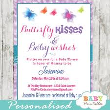 purple bokeh butterfly baby shower invitation d237 baby printables