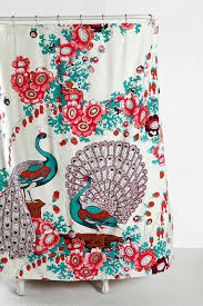 peacock shower curtain urban outfitters u2022 shower curtain ideas