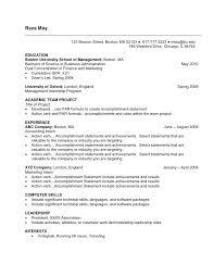 undergraduate resume template best resume collection