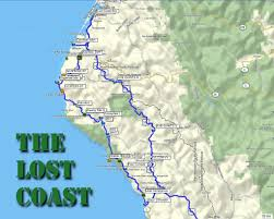 Northern Oregon Coast Map by Backroad Navigator The Lost Coast Part One