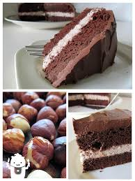 chocolate cake with hazelnut cream filling vegan gluten free
