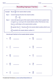 rounding fractions worksheets