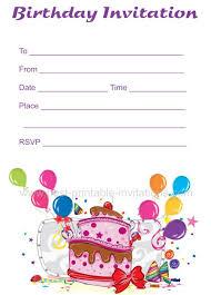 free birthday invitations free birthday invitations
