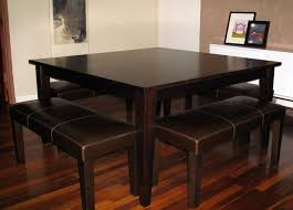 Square Dining Table With Bench Video And Photos Madlonsbigbearcom - Square kitchen table with bench