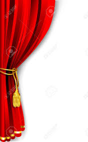 Side Curtains Illustration Of Red Stage Curtain Drape Tied With Royalty