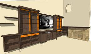 Furniture For Tv Danish Modern Inspired Wall Unit Mantel Able Baker