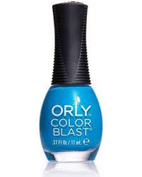 deal alert orly color blast neon nail polish blue