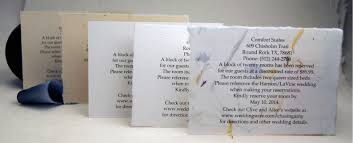 Card For Wedding Invites Wedding Accommodation Cards
