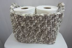 home design cloudy day toilet paper storage holder bathroom